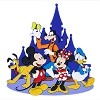 Disney Magnet - Mickey and Friends at Castle PVC