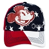 Disney Baseball Cap - Original Americana Mickey Mouse - Stars Stripes