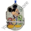 Disney Metal Disc Ornament - 2018 Logo with Mickey Mouse