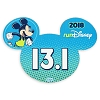Disney Auto Magnet - runDisney 2018 Mickey Mouse - 13.1