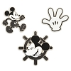 Disney 3 Pin Set - Mickey Mouse Memories - Steamboat Willie