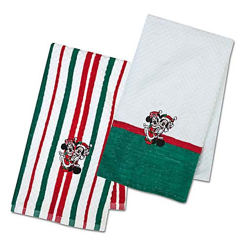 Your WDW Store - Disney Kitchen Towel - Santa Holiday Mickey and ...