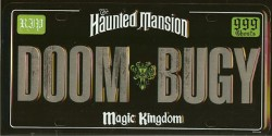 Disney License Plate Haunted Mansion Doom Buggy