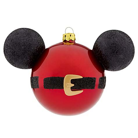 Your WDW Store - Disney Christmas Ornament Set - Santa Mickey Mouse