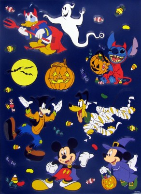 disney window clings set halloween not so scary spooky - Window Clings Halloween