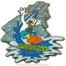 Your wdw store disney summer pin donald duck on water for Duck slide plans