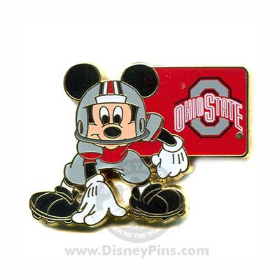 disney mickey pin ncaa football the ohio state university