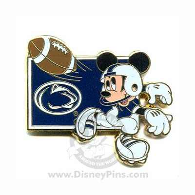 disney mickey pin ncaa football penn state