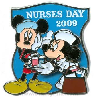 Disney Nurses Day Pin 2009 Mickey And Minnie