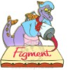 Disney Gold Card Pin - Figment - Imagination Painting Artist Pin