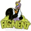 Disney Gold Card Pin - Figment - Imagination Skunk Pin