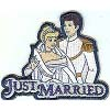 Disney Iron On Patch - Cinderella and Prince - Just Married