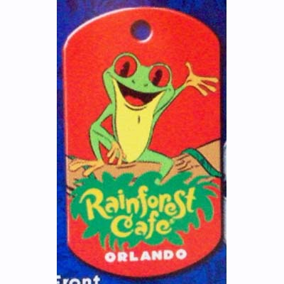 Your Wdw Store Disney Engraved Id Tag Rainforest Cafe