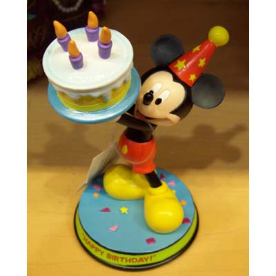 Your WDW Store Disney Cake Topper Porcelain Figure Mickey