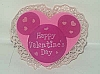 Disney Antenna Topper - Valentines Day Heart with Lace