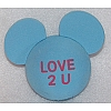 Disney Antenna Topper - Mickey Mouse Ears Valentines - Love 2 U