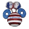 Disney Antenna Topper - 4th of July Independence Day Flag Stripes