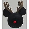 Disney Antenna Topper - Christmas Holiday Rudolph Reindeer Mickey Ears