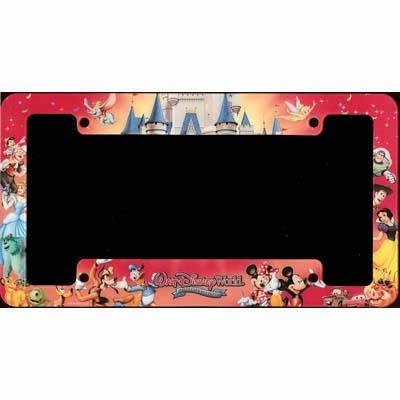 disney license plate frame mickey celebrate everyday - Mickey Mouse License Plate Frame