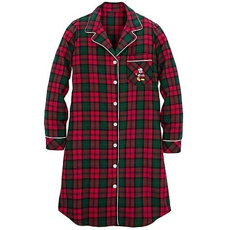 Your WDW Store - Disney LADIES Pajamas - Winter Mickey Mouse Plaid