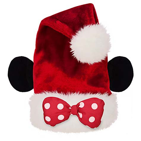 Minnie Mouse Santa Hat Disneyland Holiday Hat Minnie Mouse