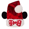 Disney Santa Christmas Holiday Hat - Minnie Mouse Polka Dot Bow New