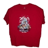 Disney Adult Shirt - Happy Holidays 2010 - Red Short Sleeve