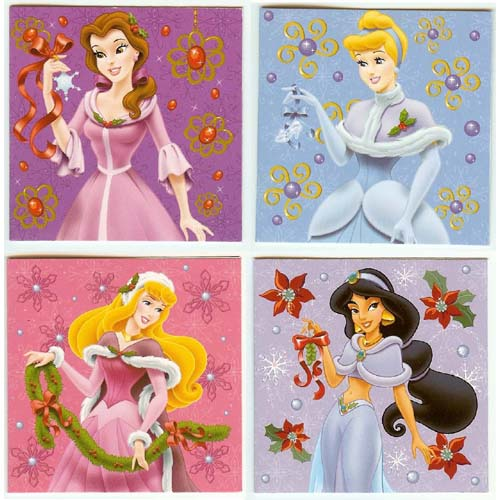 Your WDW Store - Disney Christmas Cards - Princess Mini Note Cards