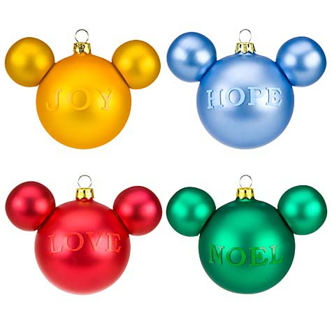 Your WDW Store - Disney Christmas Ornament Set - Mickey Mouse Icon ...