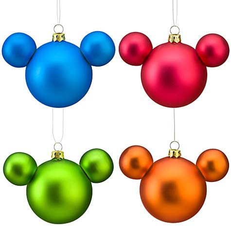 Christmas Ornaments on Disney Christmas Ornament Set   Mickey Mouse Icon Ornaments Solid