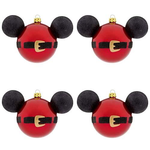 Your wdw store disney christmas ornament set santa mickey mouse