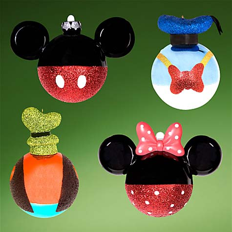 Your WDW Store - Disney Christmas Ornament Set - Mickey Mouse ...