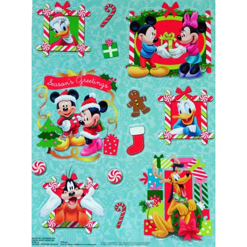 disney window clings set christmas mickey and friends