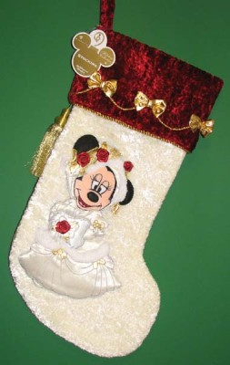 disney christmas holiday stocking victorian wedding minnie mouse
