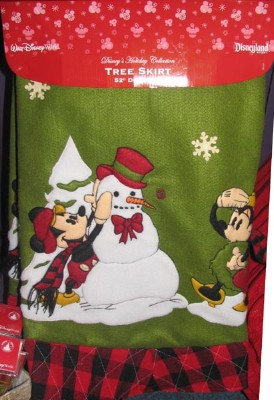 Good Disney Christmas Holiday Tree Skirt   Wilderness Mickey U0026 Minnie Mouse