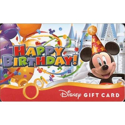 Your WDW Store Disney Collectible Gift Card Happy Birthday Mickey – Gift Card Happy Birthday