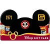 Disney Collectible Gift Card - 40th Anniversary - Mickey Ear Hat