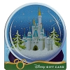 Disney Collectible Gift Card - Holiday Ice Castle Snow Globe