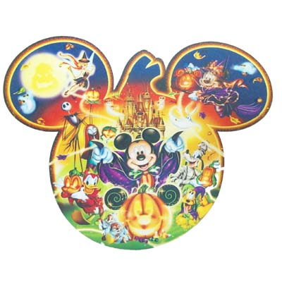 disney placemat happy halloween mickey mouse