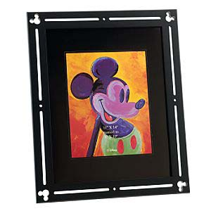 Your wdw store disney picture frame black wood frame for 11x14 table top frame