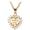 Disney Necklace - Crystal Heart Mickey Mouse - Gold