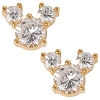 Disney Earrings - Cubic Zirconia Mickey Mouse - GOLD