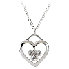 Disney Arribas Necklace - Heart with Swarovski Crystal Mickey Mouse