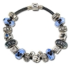 Disney Chamilia Bracelet - 7 1 / 2'' Graphite Leather