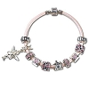 Disney Chamilia Bracelet - 7 1 / 2'' Pink Leather