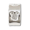 Disney Chamilia Charm - Sterling Silver Engraved Mickey Mouse Icon