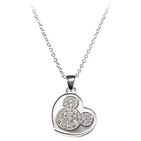 Your Wdw Store Disney Necklace Heart Shaped Pav 233