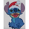 Disney Magnet - Christmas Holiday Santa Stitch Soft Rubber