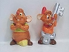 Disney Salt and Pepper Shakers - Gus and Jacques