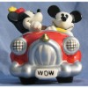 Disney Salt and Pepper Shakers - Mickey and Minnie Mouse In Car
